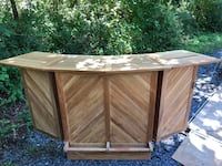 Outdoor furniture: botanic teak wood bar. New. Paris, 20130