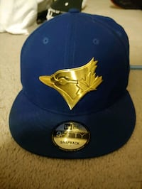 Blue Bluejays hat with gold emblem