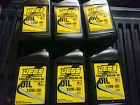 Jegs 10w-30 break-in oil.  First come first serve Valparaiso, 46385