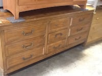 brown wooden 6-drawer lowboy dresser Rockville, 20850