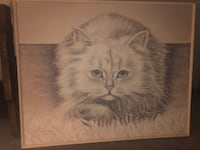 Giant cat painting
