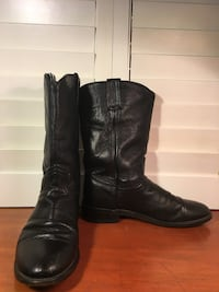 Dan Post Black Leather Boots 7.5M Buda, 78610