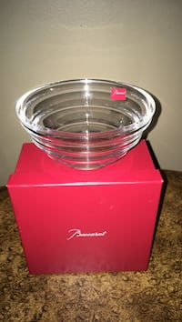 "New Baccarat France crystal latitude wolf bowl size 2 1/4"" high 4 5/8""wide Oakville, L6K 1Y8"