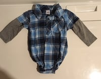 6-12 months plaid onesie