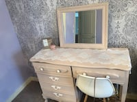 Vanity with mirror chair NOT included  Calgary, T2X 0M7