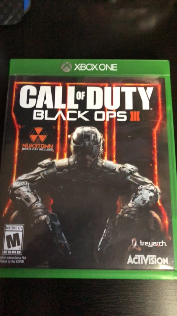 Xbox One Call of Duty Black Ops III case