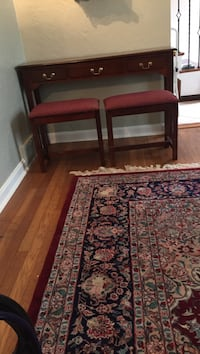 Sofa table with two benches that fit under 48x13x29 Brentwood, 15227