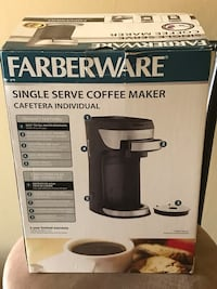 Single serve coffee maker- perfect for dorm room or travel.
