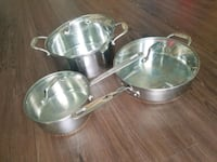 Stainless steel pots with lids Tysons
