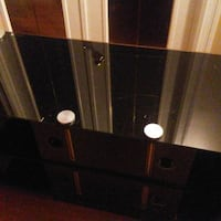 black glass TV stand  Edmonton, T6K 2W8