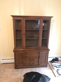 Brown wooden framed glass cabinet Rome, 30161