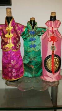 Asian Costume Wine Bottle Covers