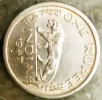 Old Indian coin 1947 Rampur, 244901