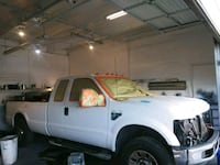 white extended cab pickup truck