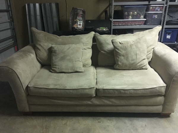 Superb Nice Micro Fiber Tan Couch Made By Kevin Charles Squirreltailoven Fun Painted Chair Ideas Images Squirreltailovenorg