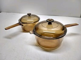 Corning Ware Vision Amber Glass Cookware