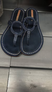 Pair of denim blue sandals by Bernardo They say size 10 by definatley fit like size 9 Tualatin, 97035