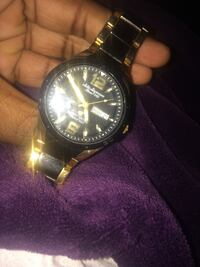 Black and gold watch Frederick, 21703