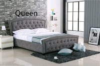 Brand New QUEEN grey fabric Bed Frame #201 Richmond, V6X