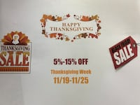 THANKSGIVING SALE!! Take 5% to 15% OFF!! 47 km