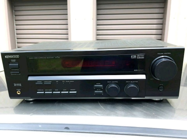 black and gray stereo component