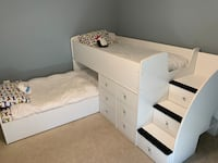 Twin Captain's Bunk Bed with built in drawers and storage Aldie, 20105