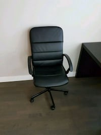 black leather office rolling armchair Vancouver, V5V 4C5