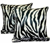 Set of Two Pillows in zebra print LARGE SIZE new