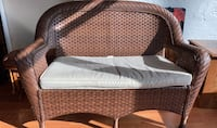 Wicker sofa and chair set