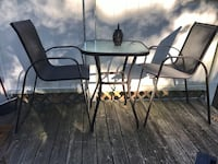 glass top table with two chairs dining set Coram, 11727