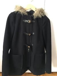 Women Black and brown fur coat size small