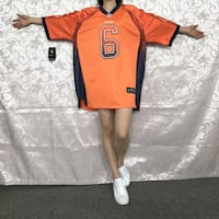 NIKE NFL BEARS CUTLER NUMBER 6 RUGBY JERSEY IN ORANGE