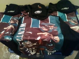 Philadelphia Eagles hoodie in all sizes and hat