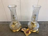 Like new a set of 2 hand blown fine crystal table lamps  Vacaville, 95687
