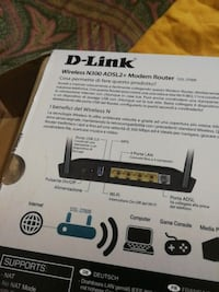 D-link wireless N300 ADSL2 + modem box router Milano, 20158