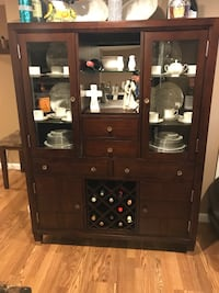 Brown wooden framed glass display cabinet Oyster Bay, 11735