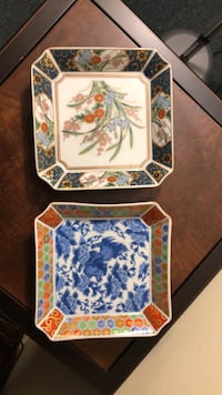 Two Japanese vintage plates