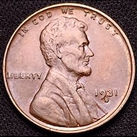 1931 D Lincoln Head Cent