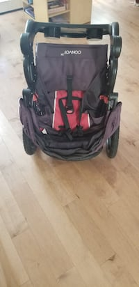 baby's black and red stroller Edmonton