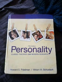Personality fifth edition by Friedman and Schustack book Kitchener, N2N