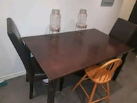 rectangular brown wooden table with four chairs dining set Montréal, H4A 3M2