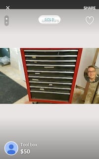 red and black tool cabinet Denver