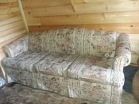 white and gray floral fabric 3-seat sofa Morristown, 37814