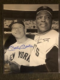 Mickey Mantle / Willie Mays w/COA Bel Air, 21014