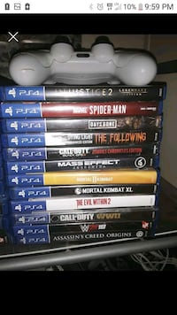 27 PS4 games and 2 wireless Dualshock 4 controller Trenton, 38382