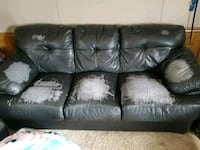 Leather couch  Kingsley, 49649