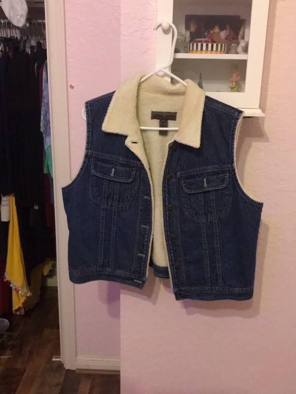 arriving new appearance retail prices Blue jean vest