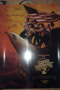 Super troopers 2 signed poster