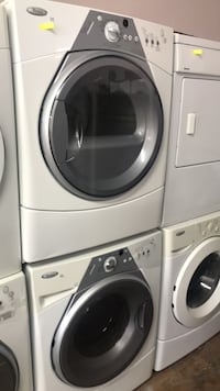 white front-load washer and dryer set Montreal, H2G 2X3