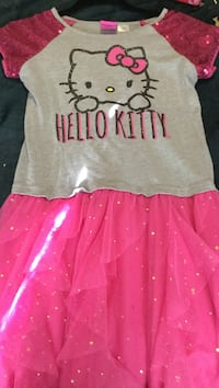 girl's pink and gray Hello Kitty boat-neck cap-sleeved dress Long Beach, 98631